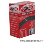 Chambre à air de vélo et de dimensions 700x32-45 valve standard marque GRL - Pièce Vélo
