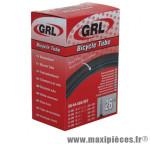 Chambre à air de vélo et de dimensions 650x35a/b valve presta marque GRL - Pièce Vélo