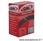 Chambre à air de vélo et de dimensions 700x32-45 valve presta marque GRL - Pièce Vélo