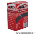 Chambre à air de vélo et de dimensions 700x20-23 valve presta marque GRL - Pièce Vélo