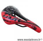 Selle route/VTT k30 noir/rouge avec rail acier noir 272x140mm marque DDK - Accessoire Vélo