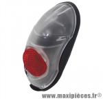 Eclairage vélo a dynamo garde-boue arrière feu rouge (avec éclairage a l'arrêt) marque Axa-Basta - Accessoire Vélo