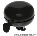 Sonnette timbre acier noir diamètre 80mm - Accessoire Vélo Pas Cher