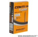 Chambre à air de vélo et de dimensions 700x20-25 valve presta 80mm marque Continental - Pièce Vélo