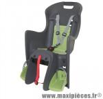 Porte bébé arrière a fixer sur porte bagage boodie gris coussin vert marque Polisport - Pièce Vélo