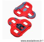 Cale pédale keo grip rouge 9°(paire) marque Look - Matériel pour Cycle