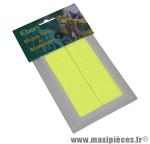 Autocollant réfléchissant jaune fluo rectangle 34x108mm (kit 2 pièces) - Accessoire Vélo Pas Cher