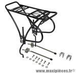 Porte bagage arrière a tringles import alu noir réglable 26 a 29 pouces pour frein a disque - Accessoire Vélo Pas Cher