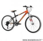 Vélo VTT 24 shark slooping garçon avec fourche télescopique 18v noir/orange (taille 33) marque Jumpertrek - VTT complet