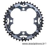 Plateau 42 dents VTT triple alivio m415/m341/m410 noir 4 branches marque Shimano - Matériel pour Vélo