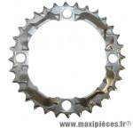Plateau 32 dents VTT triple alivio m415/m341 argent 4 branches marque Shimano - Matériel pour Vélo