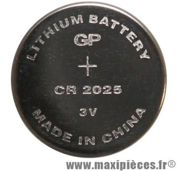 Pile bouton cr2025 3v - Accessoire Vélo Pas Cher