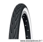 Pneu de vélo city 20x1.3/8 city'j blanc/noir (37-451) marque Michelin - Pièce Vélo