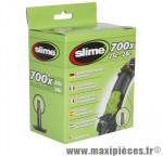 Chambre à air de vélo et de dimensions 700x25-28 valve standard avec liquide anti-crevaison marque Slime - Pièce Vélo