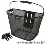 Panier avant acier maille noir avec fixation fixe marque Klickfix - Accessoire Vélo