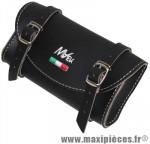 Sacoche de selle vintage style cuir noir - Accessoire Vélo Pas Cher
