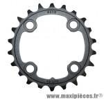 Plateau 22 dents VTT triple 10v. noir 4 branches pour 3x10 marque Sram - Pièce Vélo