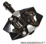 Pedale VTT automatique exustar alu sur roulement noir (poids 356gr.) marque VP Components - Pièce Vélo