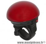 Sonnette enfant électronique étanche 1 son rouge 50mm - Accessoire Vélo Pas Cher