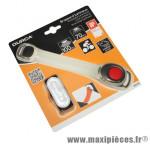 Eclairage clip light bras/cheville avec pile cr2032 incluse - Accessoire Vélo Pas Cher