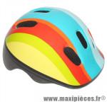 Casque vélo bébé rainbow arc en ciel (taille 44-48cm) avec molette marque Polisport - Pièce Vélo
