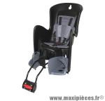 Porte bébé arrière inclinable a fixer sur cadre bilby rs noir coussin gris marque Polisport - Pièce Vélo