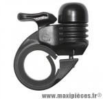 Sonnette ping mini alu noir fixation cintre 25,4/28,6mm marque Newton - Pièce Vélo