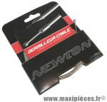 Cable de dérailleur inox 3m pour tandem (vendu a l unité sur carte) marque Newton - Pièce Vélo