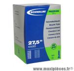 Chambre à air de vélo et de dimensions 27.5x2.10-2.75 valve schrader tout alu marque Schwalbe - Pièce Vélo