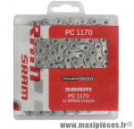 Chaîne de vélo à 11 vitesses SRAM PC 1170 114 maillons Hollowpin fourni avec PowerLock 11v.