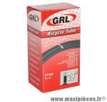 Chambre à air de vélo et de dimensions 29x1.75-2.25 valve standard marque GRL - Pièce Vélo