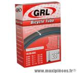 Chambre à air de vélo et de dimensions 700x20-23 valve presta 60mm marque GRL - Pièce Vélo