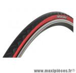Pneu pour vélo de route 700x23 gp noir flancs rouge (profil tout temps tr (23-622) marque Newton - Pièce Vélo