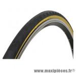 Pneu pour vélo de route 700x23 gp noir flancs jaune (profil tout temps) tr (23-622) marque Newton - Pièce Vélo