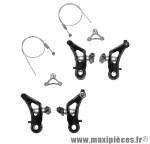 Etrier de frein VTT/cyclo-cross cantilever avant + arrière alu noir (2 paires) - Accessoire Vélo Pas Cher