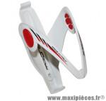 Porte bidon x5 blanc/deco rouge (pastille gel) marque Race One - Accessoire Vélo