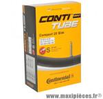 Chambre à air de vélo et de dimensions 20x1 1/8-1 1/4 valve presta (28-406 à 32-451) marque Continental - Pièce Vélo