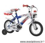 Vélo pour enfant 12 funky acier garçon bleu/blanc marque Jumpertrek - Vélo - Vélo pour enfant complet