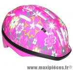 Casque vélo enfant rose fleuri avec lock (taille 48-52) marque Newton - Pièce Vélo