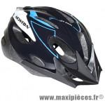 Casque vélo junior noir/bleu avec visière et lock (taille 53-55) marque Newton - Pièce Vélo