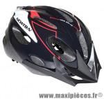 Casque vélo junior noir/rouge avec visière et lock (taille 53-55) marque Newton - Pièce Vélo