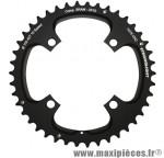 Plateau 42 dents VTT double d.104 2x10 ext noir 4 branches 10v. sram xo filete marque Stronglight - Pièce Vélo