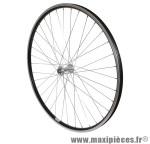 Roue VTC 700x35 avant alu noir double paroi moy alu blocage - Accessoire Vélo Pas Cher