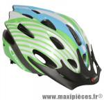 Casque vélo junior apache vert/bleu/blanc (taille 47-53) avec visiere et system quick lock marque GES - Equipement Cycle