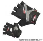 Gant de vélo été bioergo noir/gris XL (paire sous carte) marque GES - Equipement Cycle