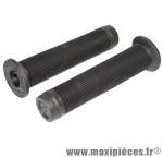Poignée BMX noire avec collerette super confort l140 mm (paire) - Accessoire Vélo Pas Cher