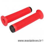 Poignée BMX rouge avec collerette super confort l140mm (paire) - Accessoire Vélo Pas Cher