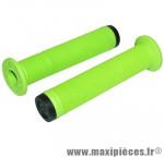 Poignée BMX vert avec collerette super confort l140mm (paire) - Accessoire Vélo Pas Cher