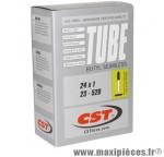 Chambre à air de vélo CST et de dimensions 24x1.00 valve presta (23-520)