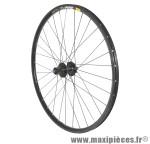 Roue VTT 27.5 pouces disc mavic xm319 arrière noir œillet moy shimano m475 10/9v noir ray inox marque Vélox - Pièce Vélo